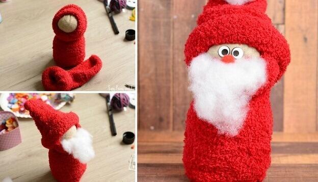 آموزش ساخت بابانوئل با جوراب
