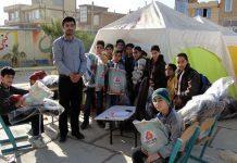 اهدای بخش دوم بسته های کمک آموزشی به دانش آموزان زلزله زده کرمانشاه