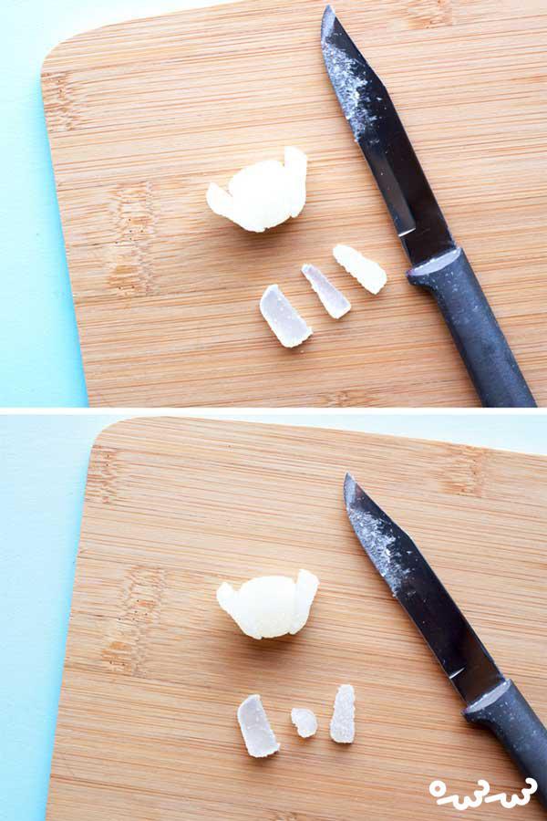 درست کردن قو با شکلات ژله ای