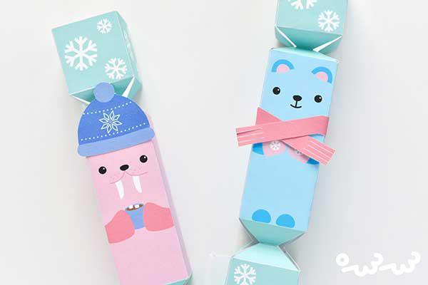 ساخت شکلات تزئینی با طرح حیوانات قطبی