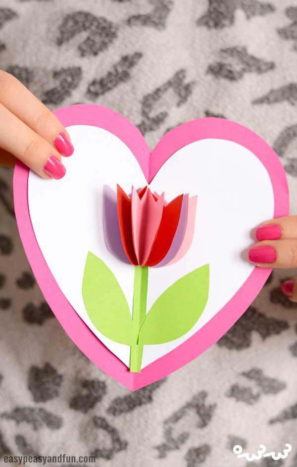 ساخت کارت پستال گل لاله