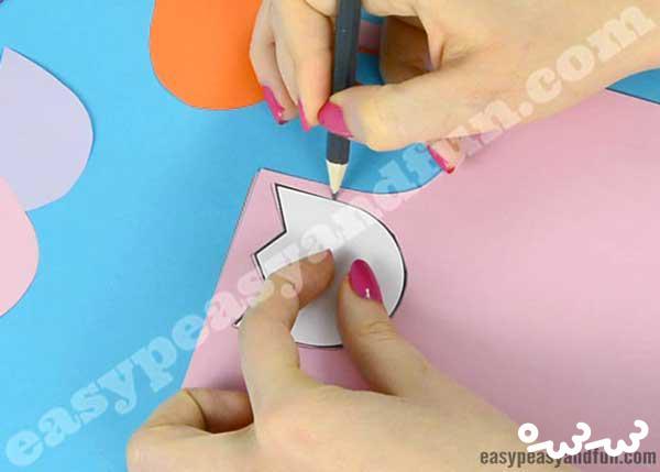 طرز ساخت کارت پستال گل