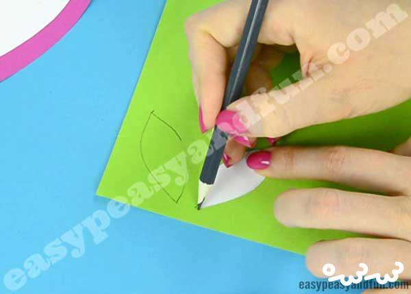 ساخت کارت پستال گل