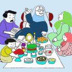 نقاشی سفره هفت سین برای کودکان