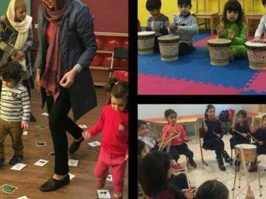 کارگاه شاد باشیم با موسیقی برای کودکان