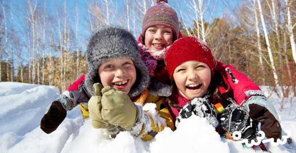 آموزش بازی های برفی بی خطر کودکانه