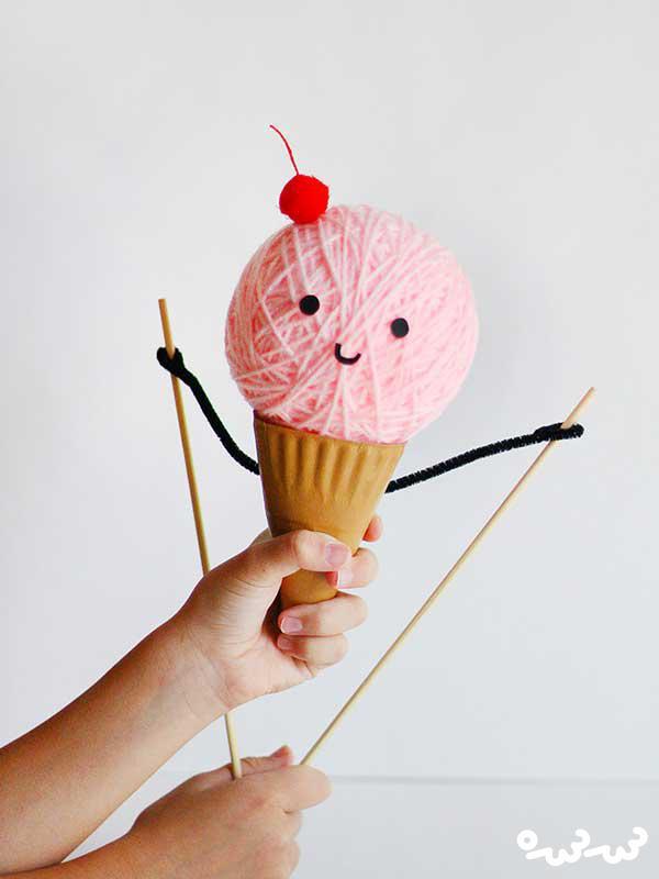 آموزش ساخت بستنی قیفی عروسکی