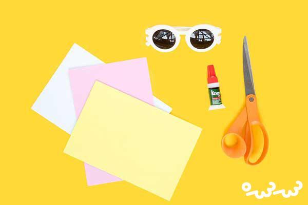 آموزش تزئین کودکانه عینک آفتابی