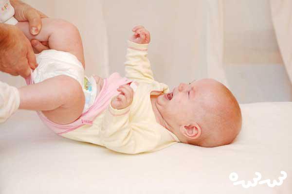 درمان حساسیت کودک به پوشک