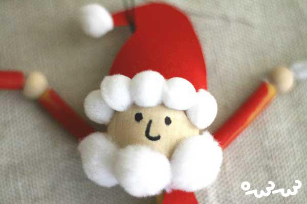 ساختن بابانوئل با ماکارونی کریسمس