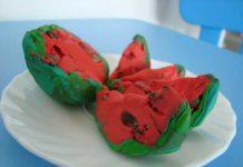 ساختن هندوانه با خمیر کاردستی کودکان برای شب یلدا