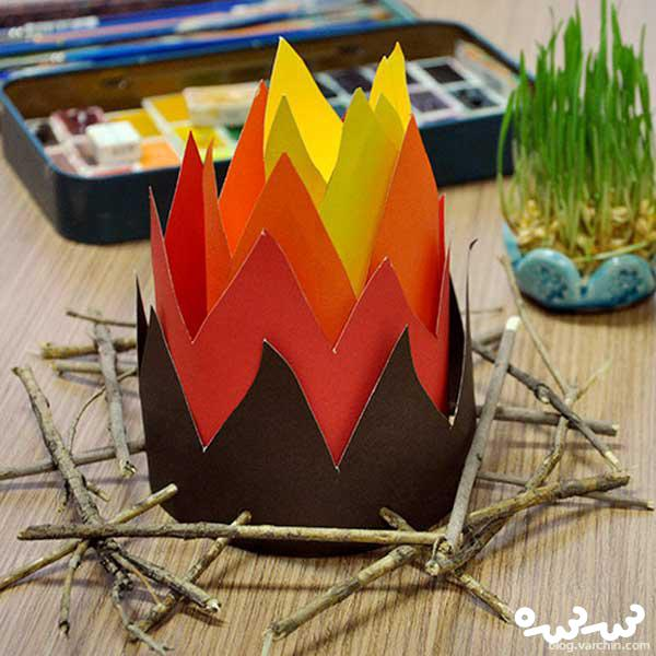 ساخت آتش کاغذی ؛ کاردستی چهارشنبه سوری برای کودکان