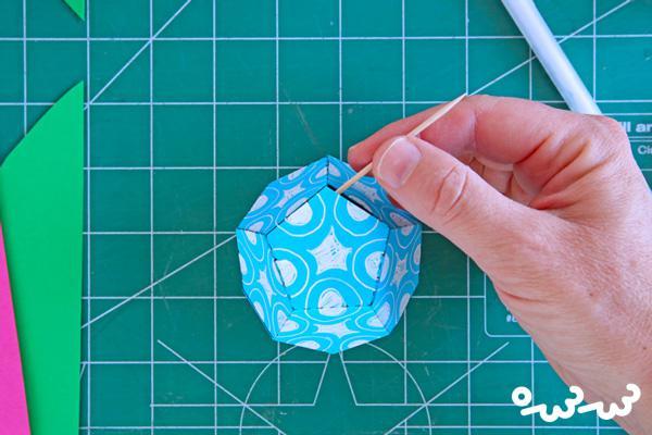 چگونه اشکال هندسی مقوایی سه بعدی بسازیم؟