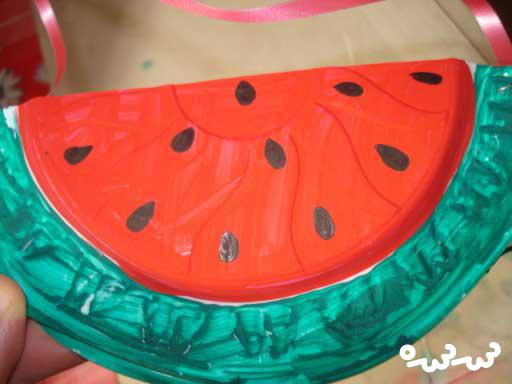ساخت هندوانه با ظرف پلاستیکی
