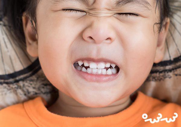 علت دندان قروچه کودک و عوارض آن