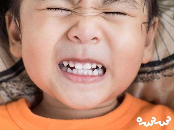 عوامل دندان قروچه در کودکان