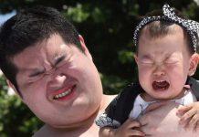 مسابقه عجیب در ژاپن؛ گریاندن کودکان