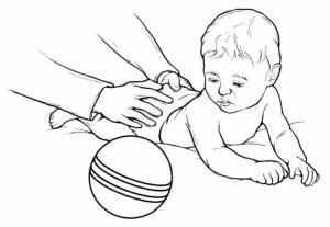 حرکات اصلاحی برای درمان کجی گردن نوزاد