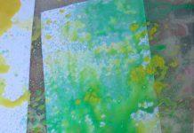 آموزش نقاشی با اسپری گچ رنگی
