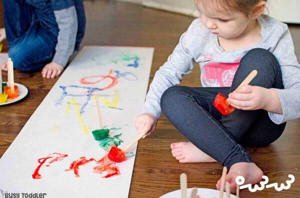 نقاشی یخ برای کودکان