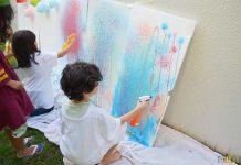 نمایشگاه گروهی نقاشی کودکان سه رنگ