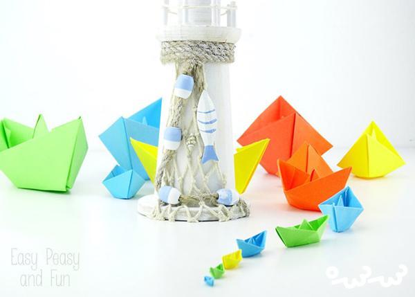 چگونه با اریگامی قایق کاغذی بسازیم