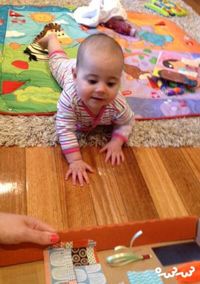 چگونه تخته لمسی برای کودکان نوپا بسازیم؟