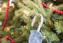 چگونه موش آویزی درخت کریسمس بسازیم؟