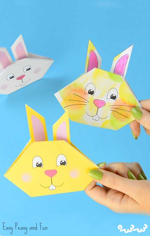 اوریگامی خرگوش بازیگوش