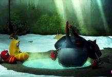 کارتون لاروا - چشمه آب گرم