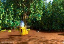 کارتون لاروا - راز زرد