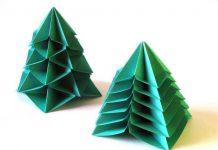 کاردستی های کریسمس؛ درخت کاج اریگامی