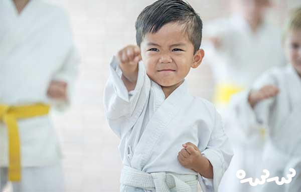 آموزش هنرهای رزمی برای کودکان زیر 7 سال