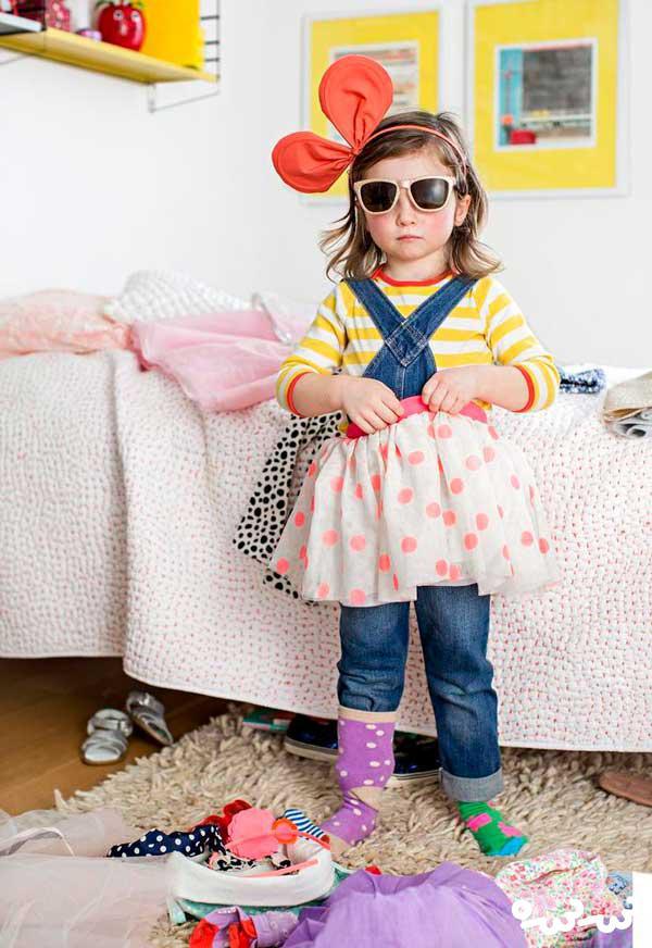 اجازه انتخاب لباس توسط خود کودک توسط والدین