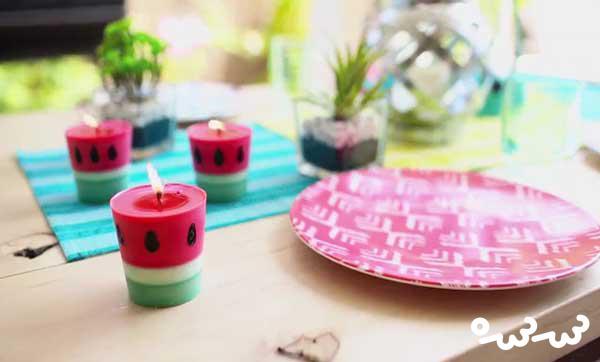 ساخت شمع به شکل هندوانه
