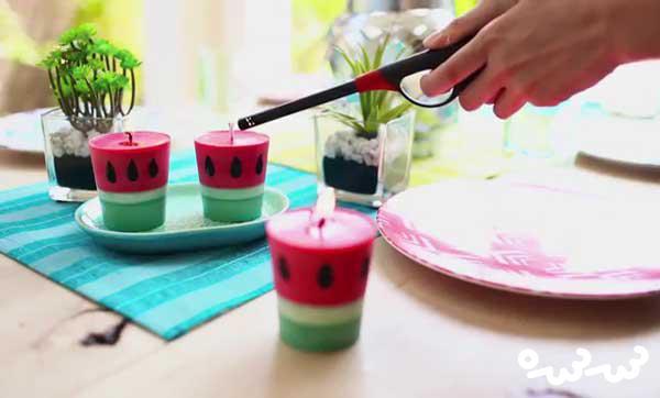 آموزش ساخت شمع به شکل هندوانه برای شب یلدا