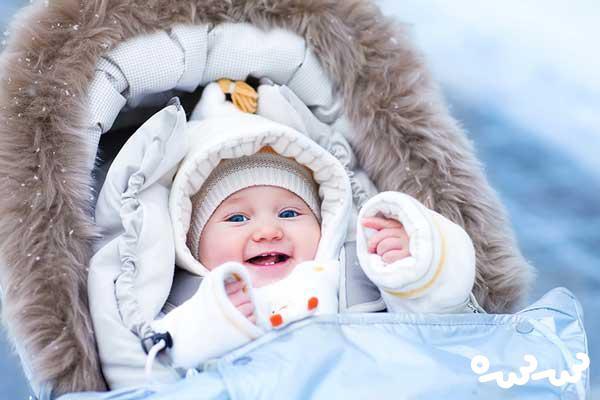 لباس پوشیدن نوزاد در زمستان