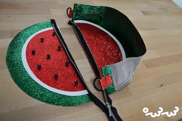 آموزش کیف به شکل هندوانه