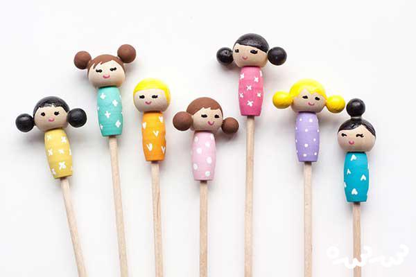 آموزش عروسک سازی با چوب