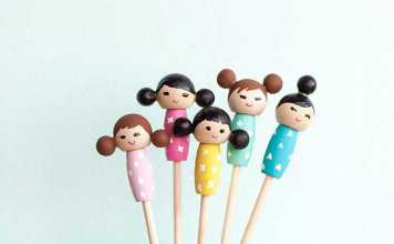 آموزش ساخت عروسک چوبی