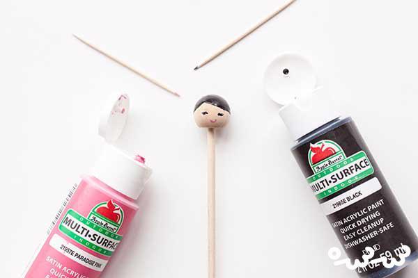 آموزش ساخت عروسک با چوب
