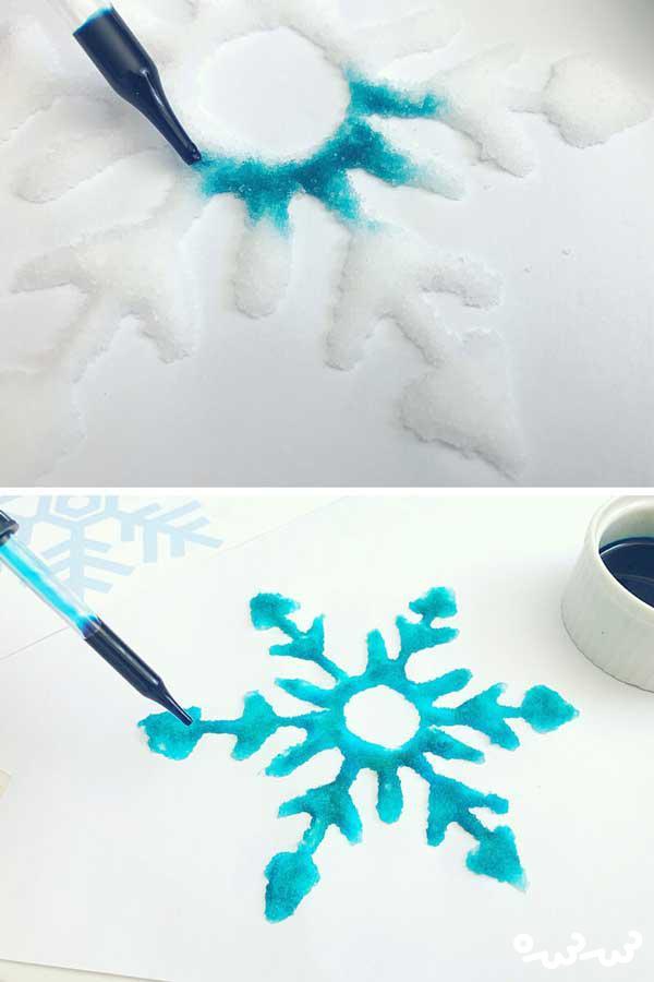 نقاشی های خلاقانه با نمک