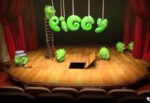 کارتون Final Curtain - piggy tales