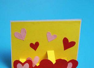 ساخت کارت پستال با قلب های برجسته