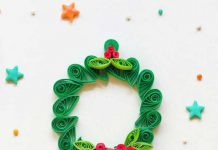 آموزش ساخت حلقه گل با ملیله کاغذی