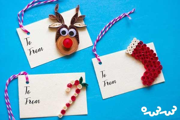 آموزش ساخت هدیه های کریسمس با ملیله کاغذی