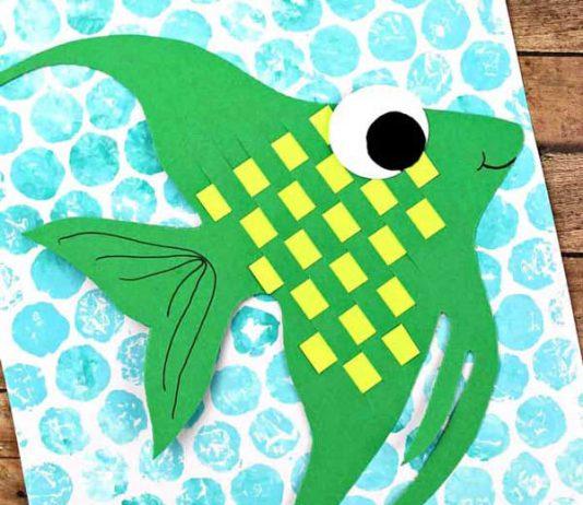 آموزش ساخت کوسه ماهی با بافتن کاغذ