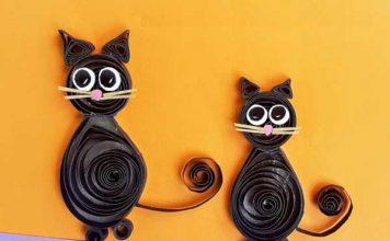 آموزش ساخت گربه سیاه با ملیله کاغذی