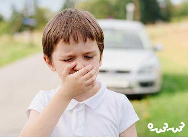 درمان حالت تهوع کودکان در ماشین