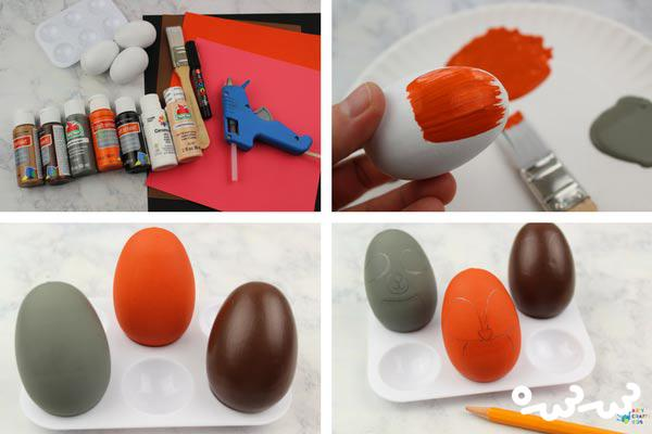 تزیین تخمه مرغ پخته